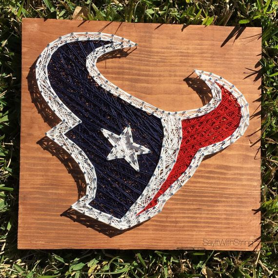 NFL Houston Texans String Art  Ready To Ship by SayItWithString