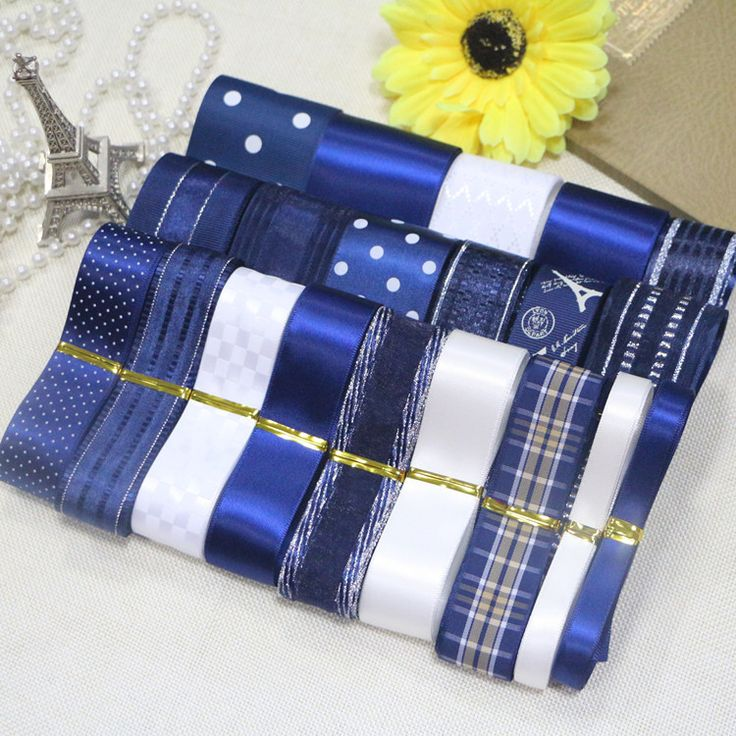 DIY ribbon set- Dark Blue color ribbon set(total 22 yards) -