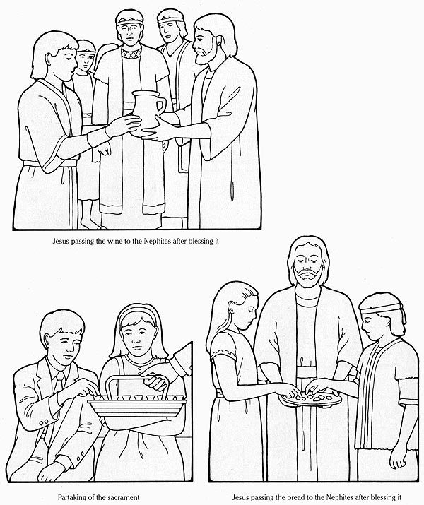 flannel-board figures- ST The Nephites Learn of the Sacrament; How do taking the sac help me remember my covenants: