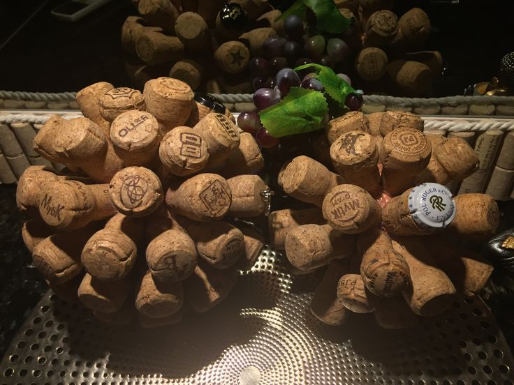 Recycled Champagne Cork Decor. Cork Balls. DIY wine crafts.