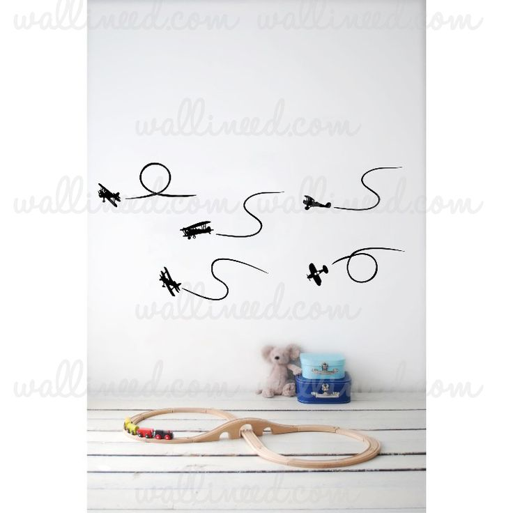 Airplanes Wall Decal Nursery Stickers