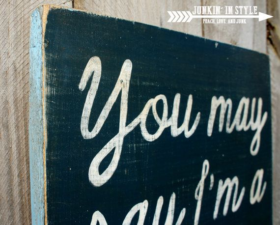 Imagine by John Lennon Rustic Distressed Wood by JunkinInStyle