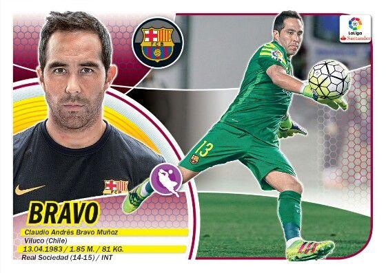 Claudio Bravo - Barcelona -LIGA BBVA - 2016-2017 PANINI