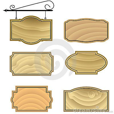 wood sign patterns hanging wood sign shapes stock images image