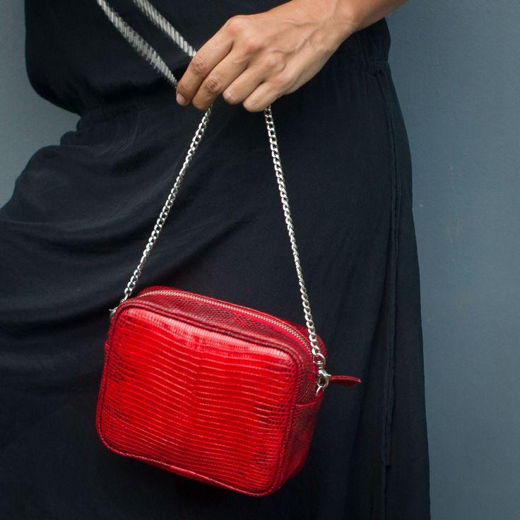 Python Leather Bag. Genuine Leather Handbag. Small leather bag by StudioANTU on Etsy