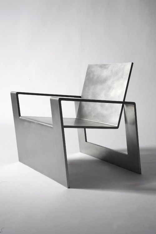 excellent wood metal furniture designs | Forrest Myers, Manifold, stainless steel chair (edition of ...