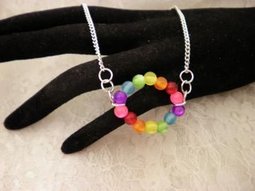 Colorful Beaded Chained Necklace by ShellysUniqueJewelry for $12.00