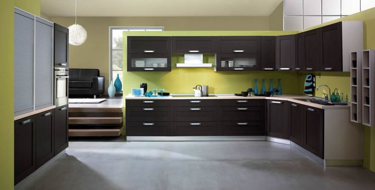 dark cabinets ktichen walls | kitchen Choosing a kitchen interior design studio