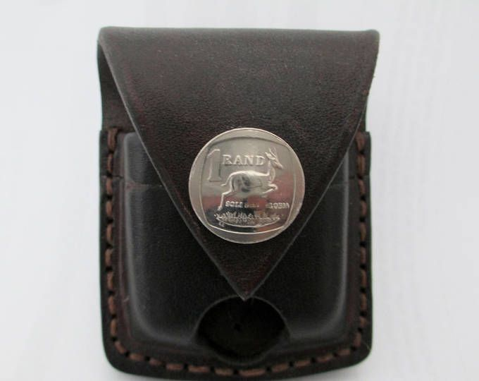Hand made, genuine leather belt pouch / sheath for Zippo lighter