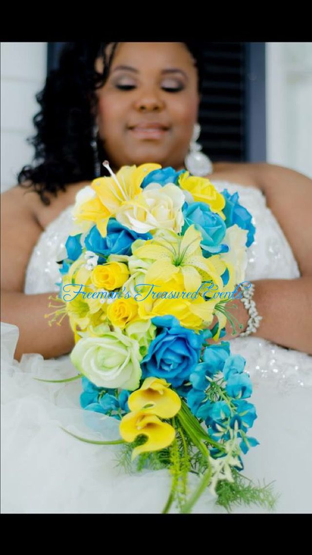 Malibu Blue and Sunbeam Yellow Wedding.. Designer-Monique Freeman