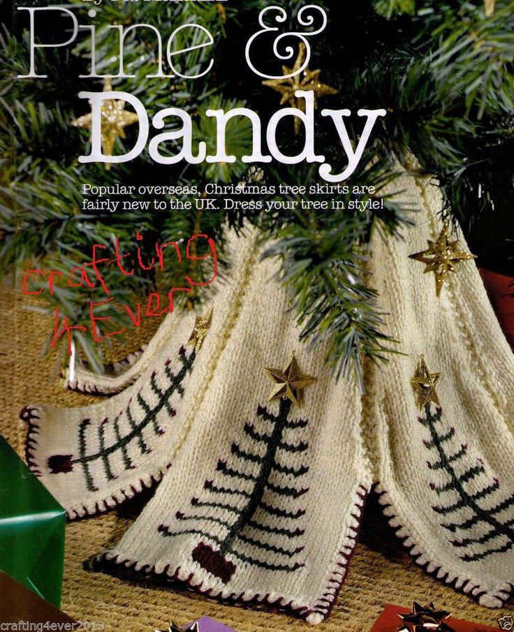 PINE & DANDY CHRISTMAS TREE SKIRT DECORATION-GREAT 4 GIFT-8 PLY KNITTING PATTERN