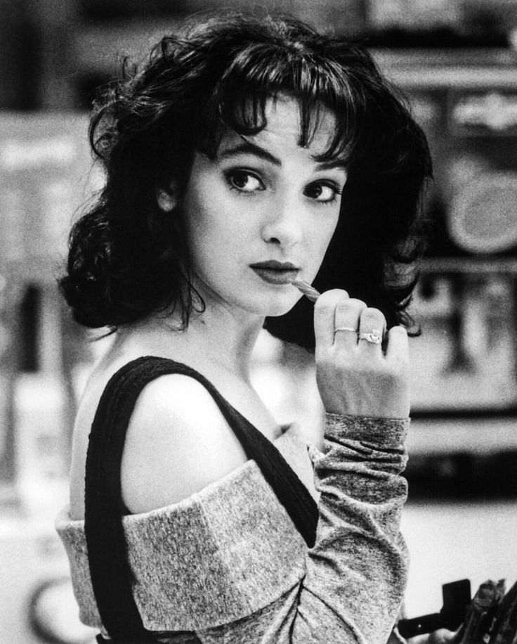 A young Winona Ryder