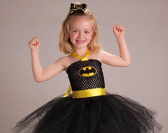 Geïnspireerd door Batman Super held Tutu jurk door TieDyedFairyTales