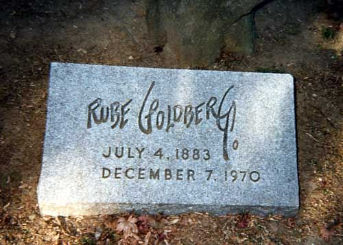 Rube Goldberg (1883 - 1970) Famous for his cartoons showing simple mechanical tasks being