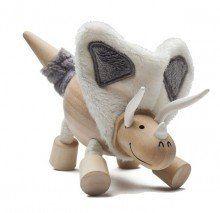 Anamalz Torosaurus wooden toy figure   www.minizoo.com.au