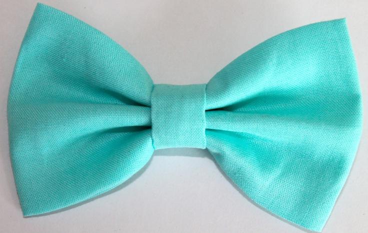 Hair Bow Clip Aqua Blue by FlyGirlVintage