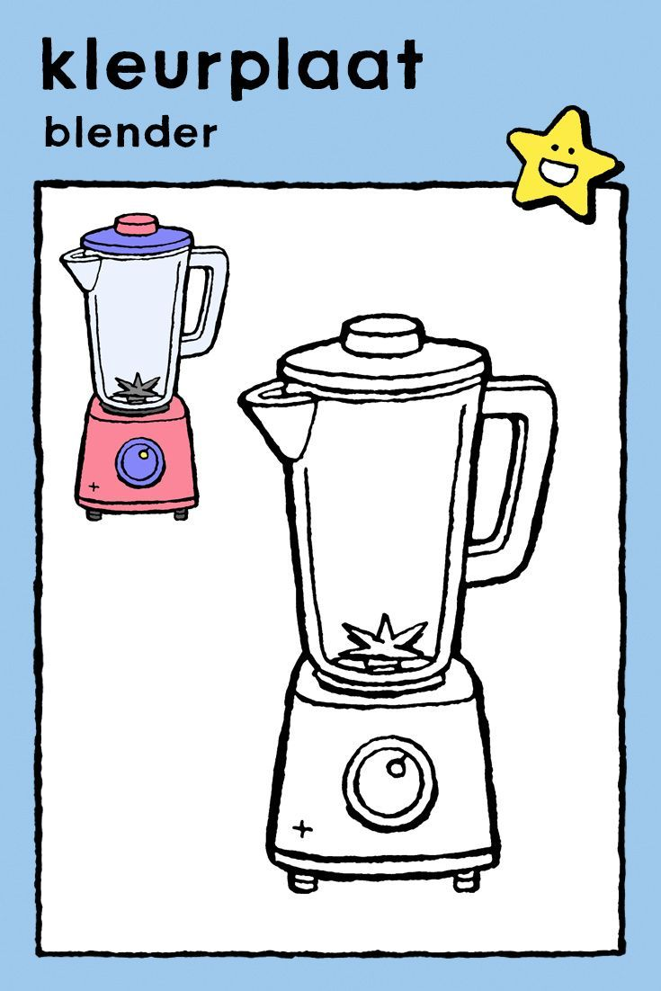 Blender Kiddikleurplaten Blenders Educatieve Spellen Eten En Drinken
