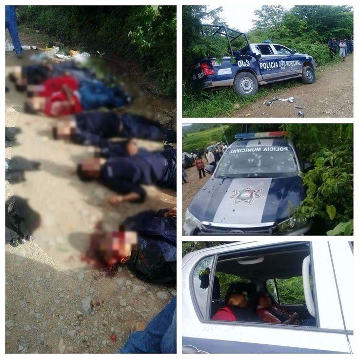 <p>Chilpancingo, Gro.- De acuerdo a datos preliminares, 7 personas perdieron la vida, entre ellas cinco elementos de la Policía Municipal, tras un asalto