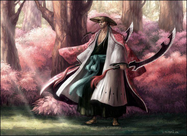 Captain Commander Shunsui Kyoraku   Bleach Captain Kyouraku