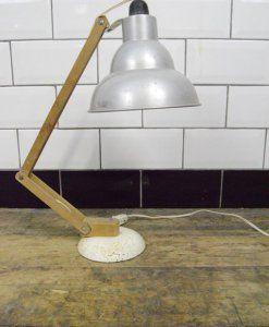 Vintage Industrial Mid Century Adjustable Desk Lamp | lovelitter.co.uk | Warehouse Home Design Magazine