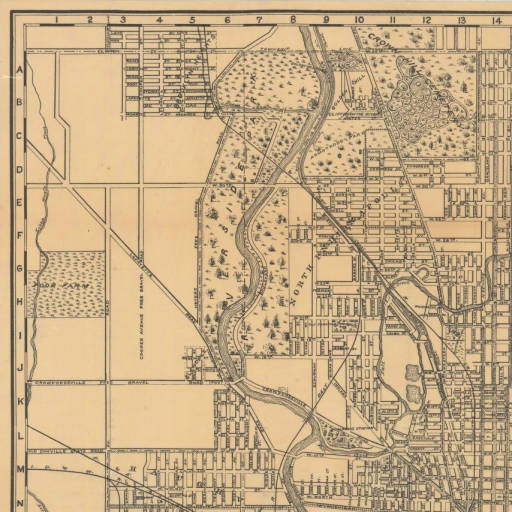 1899 Bicycle & driving map of Indianapolis [map] / Fred Dessecker & Theo. Sandstrom. :: Historic Indiana Maps