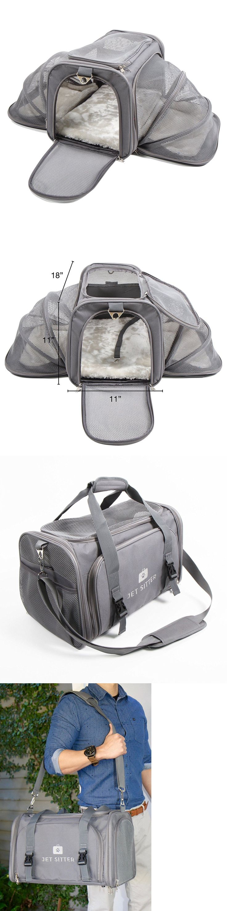 Carriers and Crates 26702: Airline Approved Pet Carrier Grey For Travel Small Dogs Cats Seat Belt Buckles BUY IT NOW ONLY: $54.99