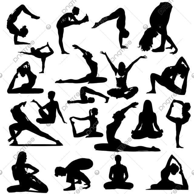 Yoga Silhouette Design Yoga Silhouette Vector Silhouette Png And Vector With Transparent Background For Free Download Silhouette Png Silhouette Design Yoga Cartoon