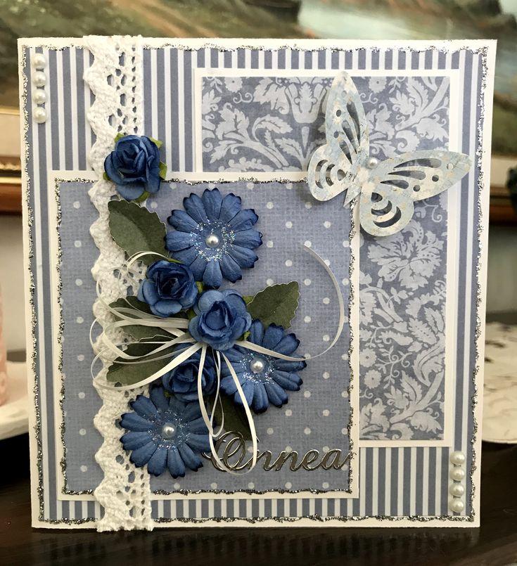 синие цветы для открытки своими руками специалисты исключительно грамотно