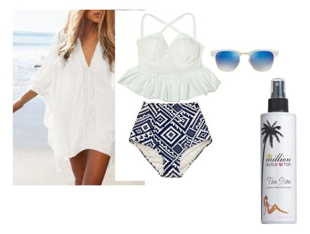"""""""Swimmy"""" by townsiegirl on Polyvore featuring Ray-Ban and Million Dollar Tan"""