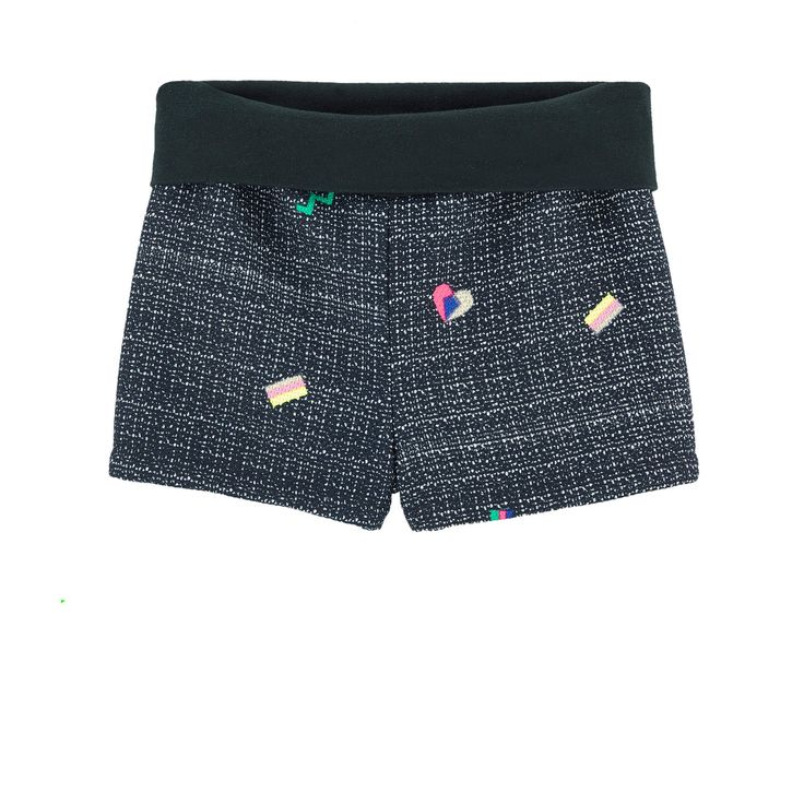 Polyester knit Satin lining Short cut Straight leg fit Standard waistband    Embroideries   Random patterns for each item - $ 84