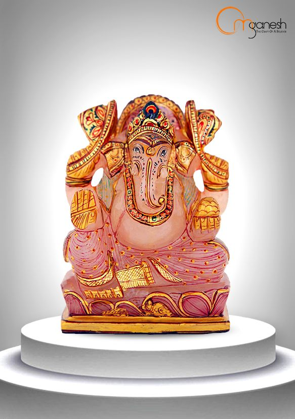 Be the host of a divine loving energy throughout your home with a pristine Rose Quartz idol of Lord Ganesha.