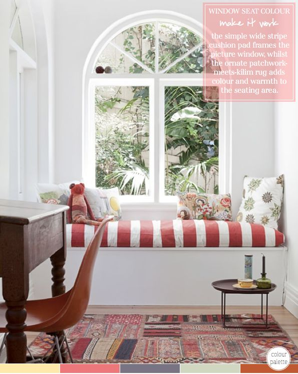 Best Window Seats Images On Pinterest Window Architecture - Beautiful windows and love the window seat with blue white cushions