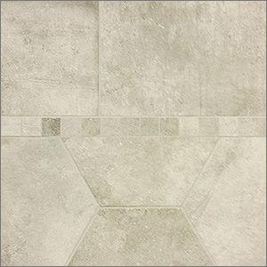 Marvel Almond. 16x24 hexagon, 12x24 and 2x2 mosaic. #happyhouse