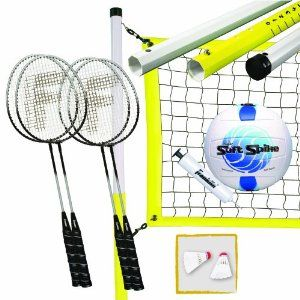 Franklin Sports Advanced Badminton/Volleyball Set! OH I want one of these!!! <3 Badminton!
