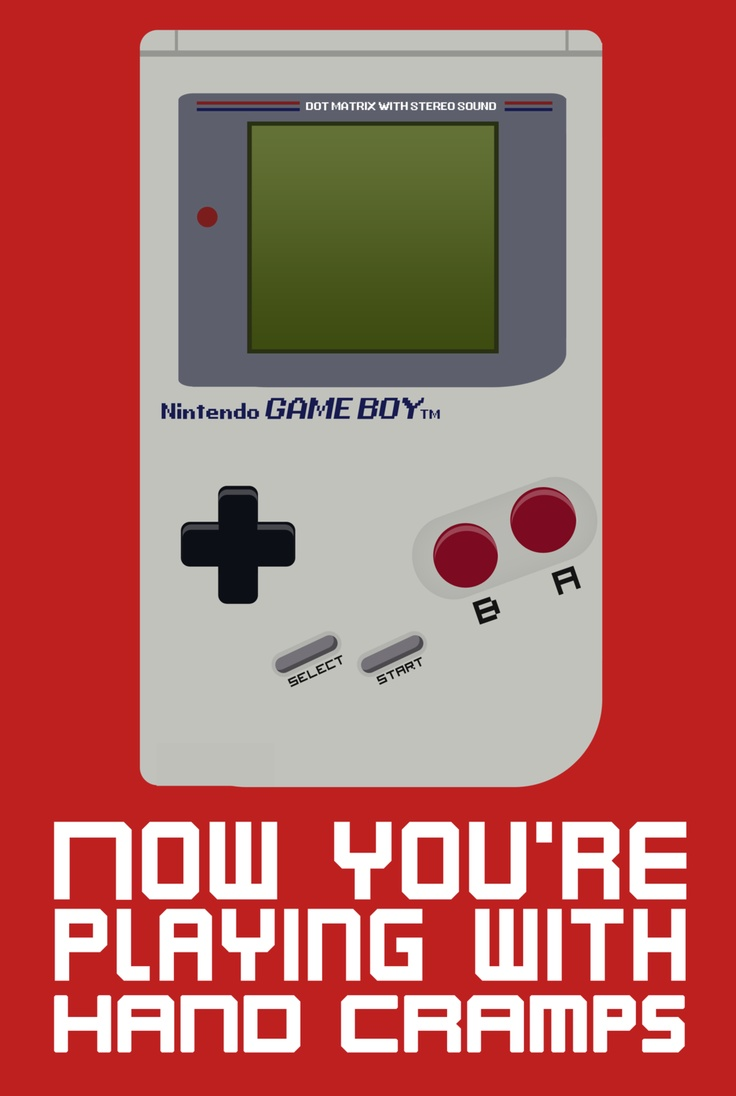 Gameboy Vector Playing with Hand Cramps by tjhiphop on