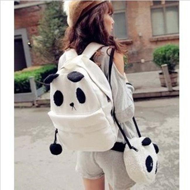 Conjuntinho de bolsas de panda. - vem 2 modelos - Yoh Store - Moda Pop, Kawaii e Harajuku