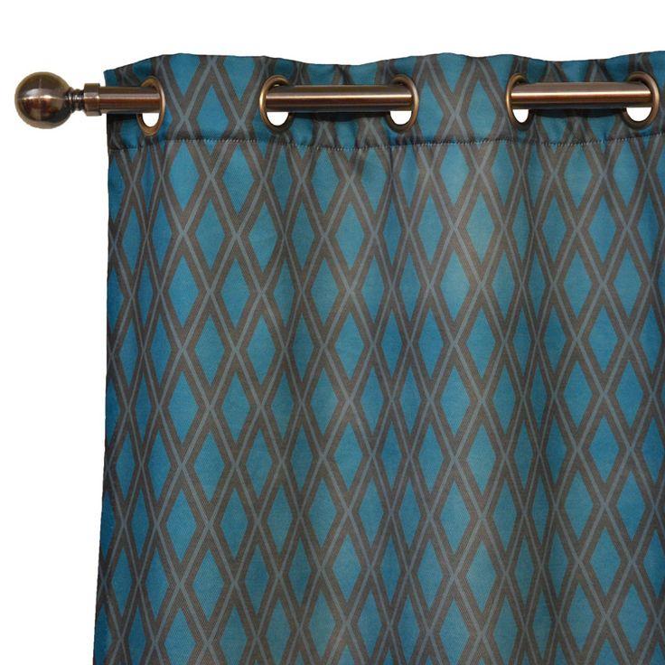 28 best rideaux coussins imprim s images on pinterest - Double rideaux bleu canard ...