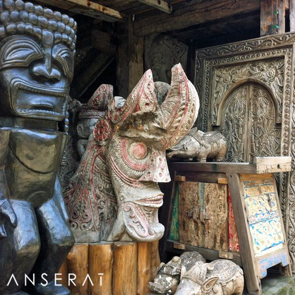 Sourcing delectable carved wood doors in Bali // www.anserai.com