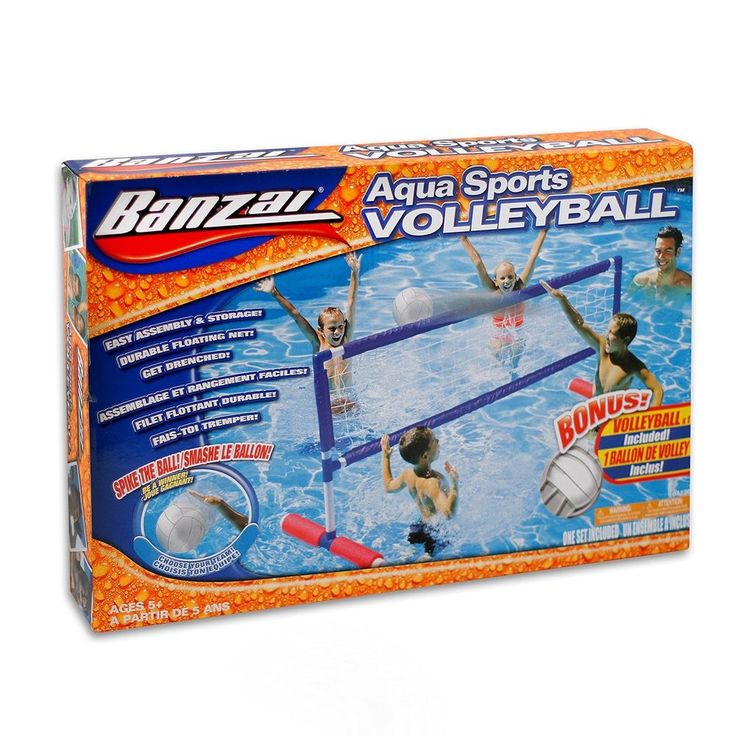 Banzai Pool Volleyball Net Swimming Pool Accessories Mesh Bag Water Sports New #Banzai