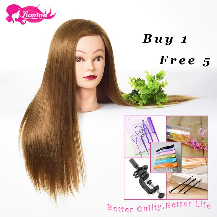 Big Sale Hairdresser Mannequin Head For Makeup Practice 100% Heat Resistant Hairdressing Training Heads Hair Styling Doll Head