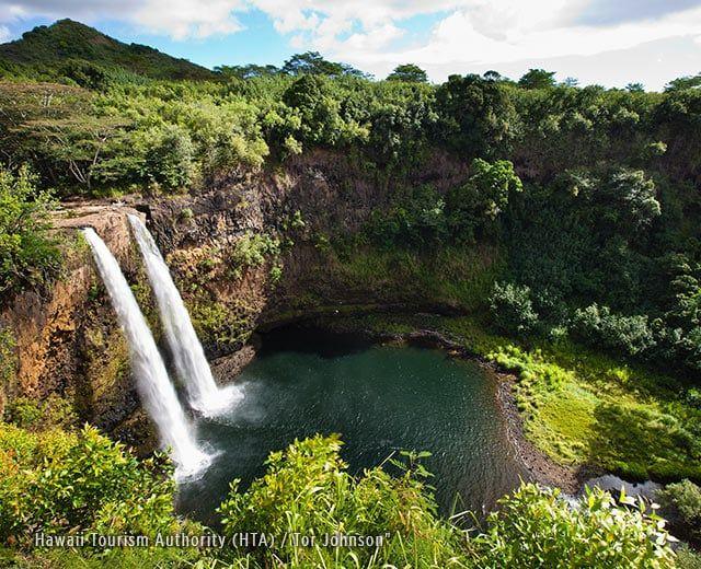 Wailua Falls, Kauai - Hawaii Tourism Authority (HTA) / Tor Johnson