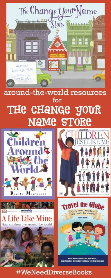 Additional #educator resources for a CHANGE YOUR NAME STORE storytime. In THE CHANGE YOUR NAME STORE, Wilma Lee Wu travels the world in search of a new name. This book is a great way to introduce #multicultural experiences to your #classroom or #storytime crowd! #WeNeedDiverseBooks