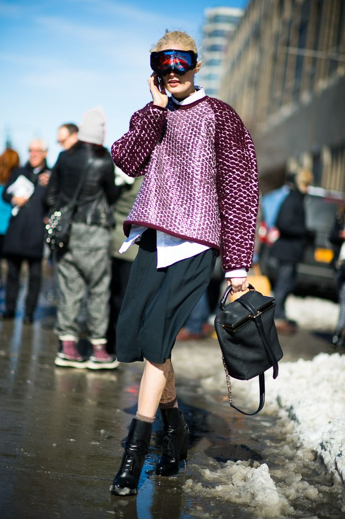 Hanne Gaby Odiele at Prabal Gurung #streetstyle #fashion #NYFW on http://www.gastrochic.com