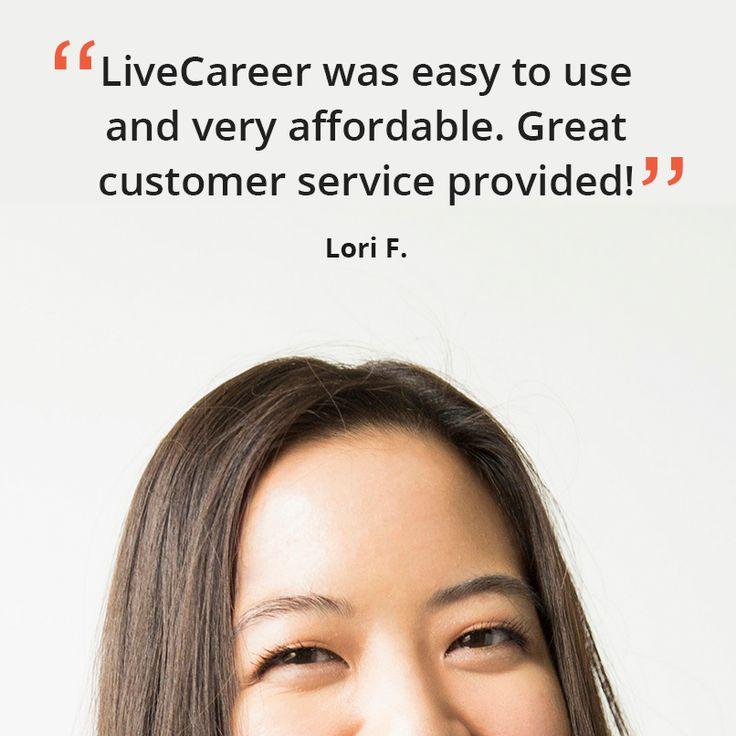 182 best LiveCareer Reviews images on Pinterest Resume builder - livecareer customer service number