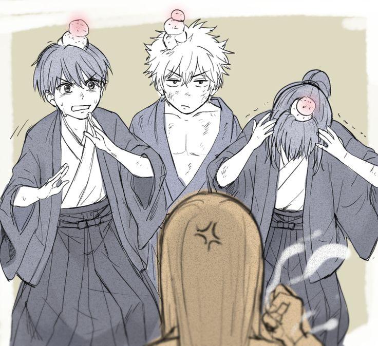 Takasugi, Gintoki, Katsura Kotaro, and Yoshida Shouyou