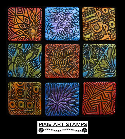 Pixie Stamp Samples by Helen Breil  These really show off the possibilities.