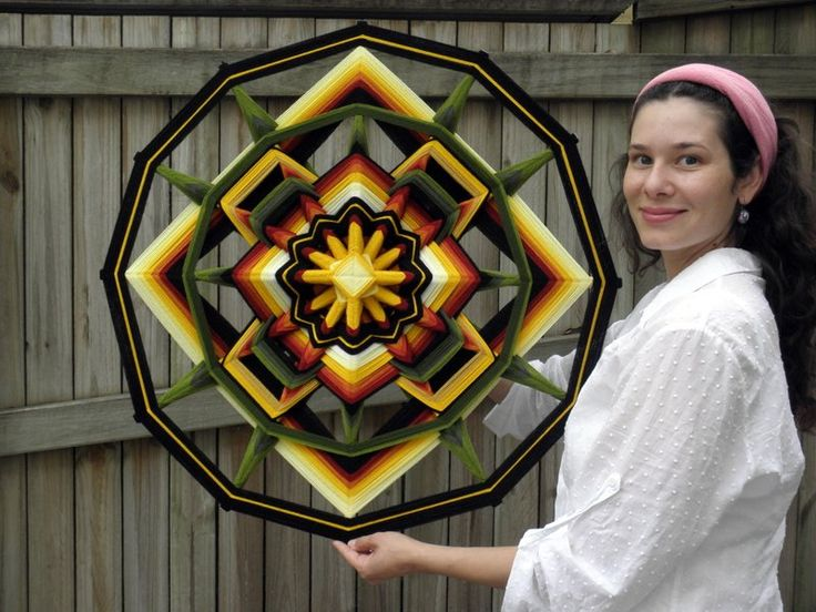 Intensity Mandala, 80cm, 12 sides;Ojo de Dios  My facebook page: https://www.facebook.com/mandalasoflight