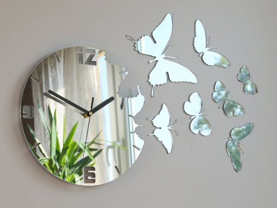 1000+ ideas about Mirror Wall Clock on Pinterest