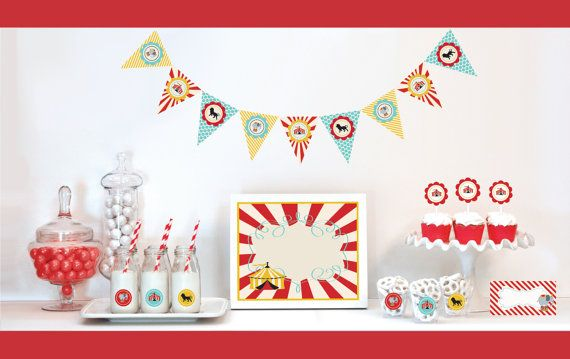 Carnival Theme Party  Carnival Birthday Party Ideas  by ModParty, $35.00