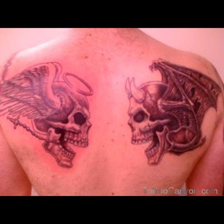 Tattoo Ideas Good Vs Evil: Best 25+ Good And Evil Tattoos Ideas On Pinterest